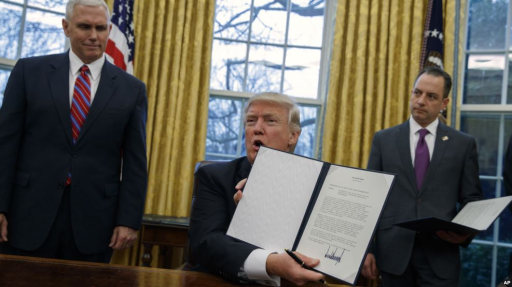Trump withdraws USA from TPP