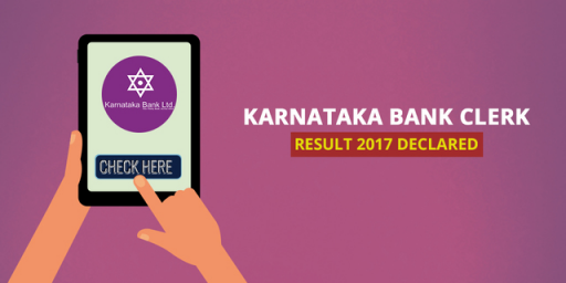 Karnataka Bank Clerk Result 2017 Declared
